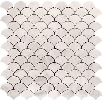 30x30 White Scallop