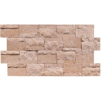 21x30 Travertine Line Bricks Panel Patlatma Taş Tuğla