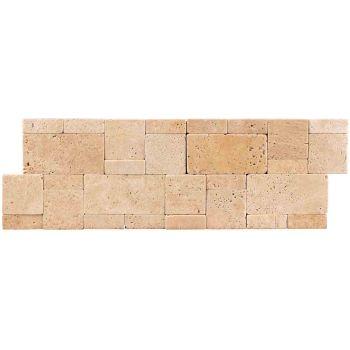21x30 Traverten Mozaik Dekoratif Taş Tuğla