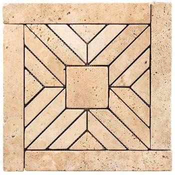 45.7x45.7 Traverten Mozaik