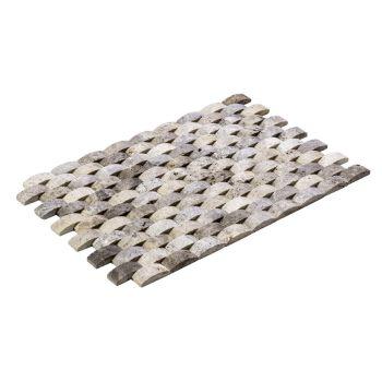 2.3x4.8 Silver Balıksırtı Mozaik