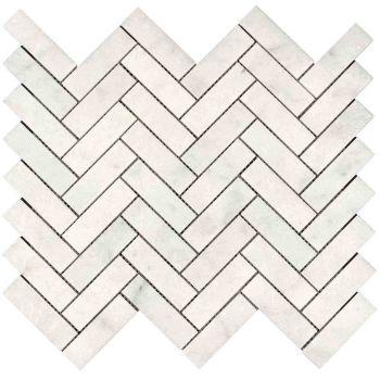 2.3x4.8 Herringbone Beyaz Mozaik