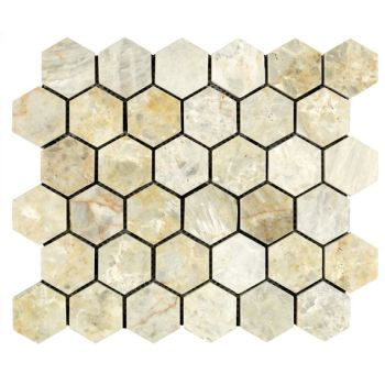 4.8x4.8 Ice Hexagon Mozaik