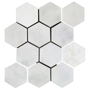 10x10 White Grand Hexagon