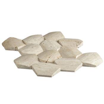 10x10 Travertine Elegant 3D Mozaik