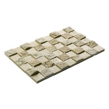 4.8x4.8 Traverten Mozaik Patlatma Taş