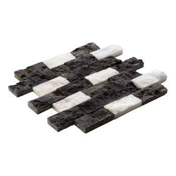 4.8x10 White Black Patlatma Taş