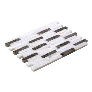 2.3x10 White Black Patlatma Taş