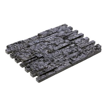 2.3X10 Black Traverten Patlatma Taş