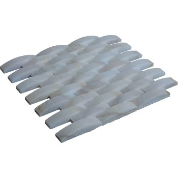 2.3x10 White Hasır Mozaik Duvar Kaplama