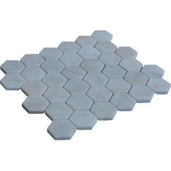 4.8x4.8 Beyaz Renkli Mozaik Mutfak Tezgah Arası Döşeme