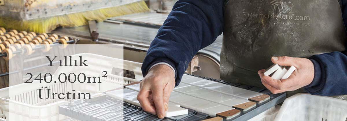 Yıllık 240.000 m2 Üretim, Patlatma taş fabrikası