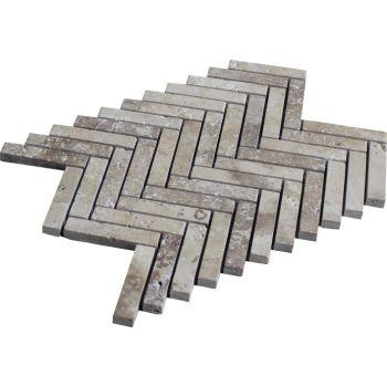 1.5x7.5 Noche Herringbone Doğal Taş Mozaik