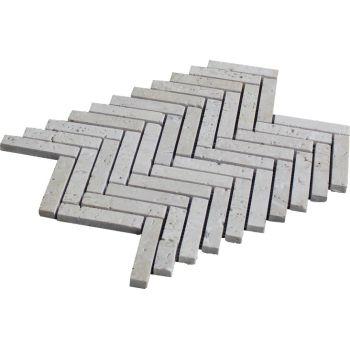 1.5x7.5 Traverten Herringbone Doğal Taş Mozaik